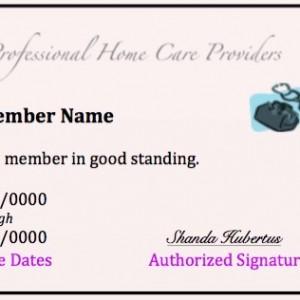 php membership card screen shot